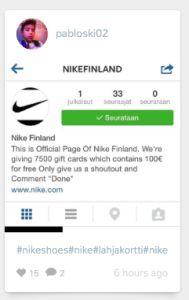 Vastaako Nike koskaan #nikefinland trollaukseen – ja kiinnostaako tämä ketään? #nikefinland perusti instagramn -tilin kohun seurauksena