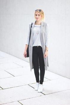 katiys.com, fashionblogger, minimalistic, stripes, longwest, long west, black, white, grey, cos, fashionblogger_de, fashion, style, minimal