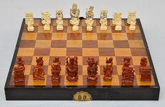 Belíssimo conjunto completo para jogo de xadrez (China ..