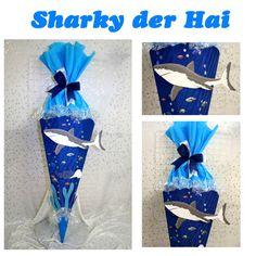 Schultüten - Schultüte Hai Sharky - ein Designerstück von die-schultuete bei DaWanda