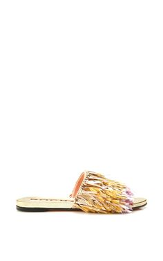 2b0dea40a7 Gold Tassel Fringe Bonita Slides by Rochas for Preorder on Moda Operandi  Flats, Sandals,
