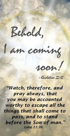 Jesus is coming soon.The Bible says when you see the fig tree bloom then that generation will not pass away before I return. The Bible calls Israel the fig tree. Israel returned as a nation in Even so, Come, Lord Jesus. Scripture Verses, Bible Verses Quotes, Bible Scriptures, Prayer Quotes, Revelation 22 12, Jesus Is Coming, Lord And Savior, God Jesus, Faith In God