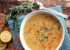 Lemon Rosemary Lentil Soup