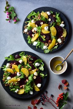Buckwheat salad with roasted beets, orange, feta and rocket. The perfect combination of nutty buckwheat with sweet roasted beets and orange. How To Cook Buckwheat, Buckwheat Salad, Grain Salad, Orange Salad, Mushroom Risotto, Feta Salad, Roasted Beets, Dried Tomatoes, Salad Recipes