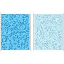 Spring Flowers & Paisley - Sizzix A2 Embossing Folders (2 Pack)