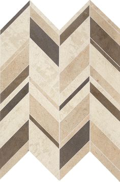 Daltile Limestone Collection Fusion Brun Large Chevron (honed) DA18 Natural Stone Floor and Wall Tile.