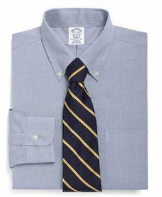 Supima? Cotton Non-Iron Slim Fit Button-Down Dress S..