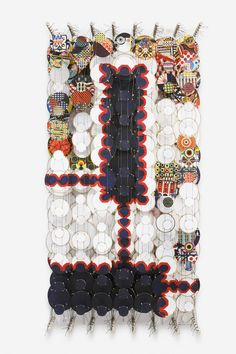 Sleepless in These Hundred Mile Buildings Jacob Hashimoto 2013 122 x 62 cm Paper, wood, acrylic and Dacron GF 7172