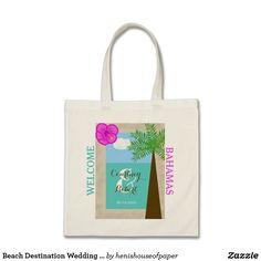 Beach Destination Wedding Welcome Bags