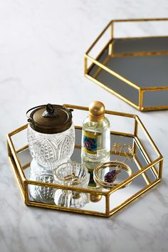 Gold Mirrored Tray World Market