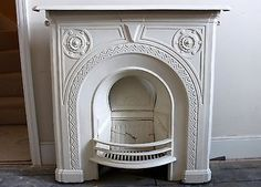 Cast-Iron-Fireplace-approx-100cm-x-100-cm-painted-cream