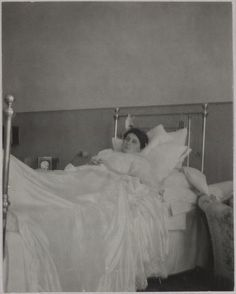 """Anna Vyrubova recovering from her near fatal train accident, January 1915 : During the First World War, she was seriously injured in a railroad accident on the tracks between Tsarskoe Selo and Petersburg. Anna was near death when Rasputin came to her bedside, calling """"Annushka, Annushka, rise!"""" Amazingly, she responded and awoke. Rasputin, covered in sweat from the ordeal, withdrew from Anna's room with the prophecy that she would henceforth be a cripple - and so she was."""