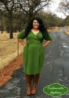 Cashmerette Appleton wrap dress in cotton double knit