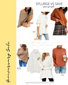 Free people boho sweaters and chunky knits for fall and winter. affordable style and curvy friendly Boho Sweaters, Hot Tickets, Chunky Knits, Nordstrom Sale, Barefoot Dreams, Wrap Cardigan, Look Alike, Anniversary Sale, Dupes