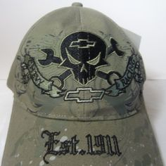 Official General Motors Chevy Camo Racing Hat Skull Wrench Adjustable. $22.99