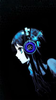 looks like a cyberpunk Anime for me because of its earphone and hair...