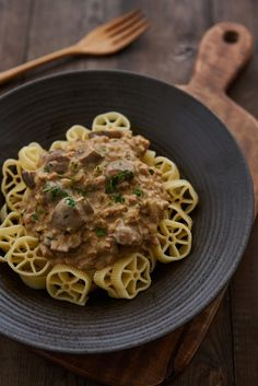 Yes, You Can Make Vegan Stroganoff. I would use more mushrooms instead of a meat substitute.