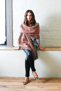 3 new ways to wear a scarf this season. The step by step how-to's here: