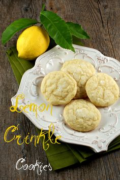 { Lemon Crinkle Cookies } from @Lisa Phillips-Barton | Authentic Suburban Gourmet