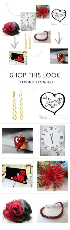 """Ready for RED!"" by msbsdesigns ❤ liked on Polyvore featuring WALL, Scialle and rustic"