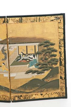 Small Four-Panel Screen, Japanese Meji Period image 5