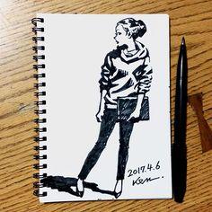 ・ Sketch in the street ・ #sketch #sketchbook #art #drawing #freehand #スケッチ #スケッチブック #絵 #フリーハンド #street ・