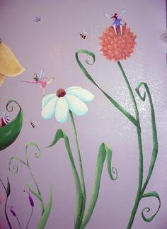 fairies and flower mural   Flowers & Fairies