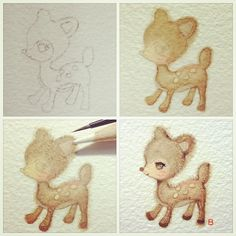 22-12-12 Dear Deer : in the making by Bua S, via Flickr