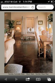 FLOOR: Stained Concrete Floor Color?