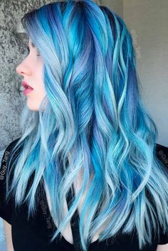 Fairy Blue Ombre Hair for Beautiful Girls ★ See more: http://glaminati.com/fairy-blue-ombre-hair-beautiful-girls/