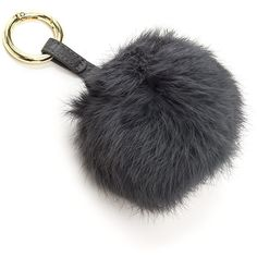 We know you instantly fell for this adorable piece. Metallic key ring features a faux fur pom-pom that hangs from a pebbled faux leather tab. Accessory can als…