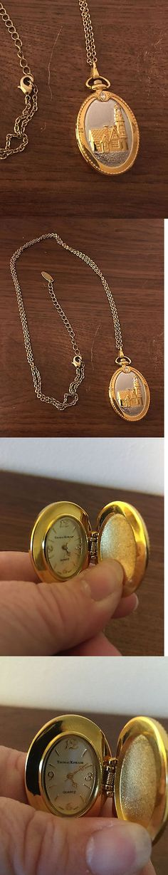Necklace Watches 10329: New Thomas Kinkade Lighthouse Pendant Stainless Steel Quartz Analog Watch BUY IT NOW ONLY: $65.0