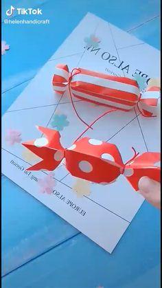 Paper Crafts Origami, Origami Art, Diy Paper, Diy Arts And Crafts, Clay Crafts, Fun Crafts, Craft Work For Kids, Crafts For Kids, How To Make An Envelope