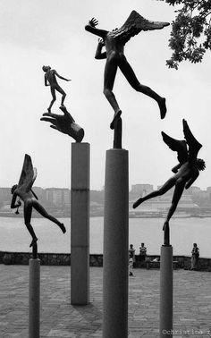 Carl Milles sculptures on the Swedish island of Lidingo. #ModernArt #Sweden