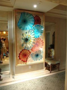 glass  Beverly Albrets blown glass wall art~ tropicalglassdesigns.com
