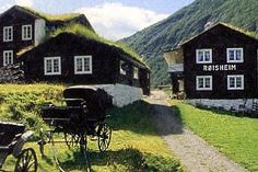 Roisheim Hotel, Norway. 1000 year old farm houses in an amazingly beautiful location among the highest peaks in Europe.
