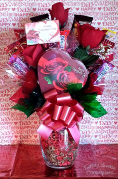 Valentines candy bouquet