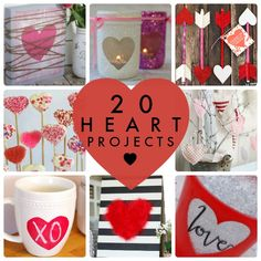 20 heart projects you can do for Valentine's Day!