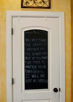 Chalkboard contact paper for your pantry door!