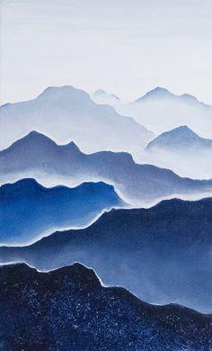 """Как сделать интерьерную картину """"Горы"""" за час - Ярмарка Мастеров - ручная работа, handmade"""