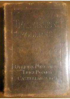 TRASMISSIONI MODERNE 1921 Officine Meccaniche Luigi Pomini Castellanza