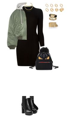 """1046"" by julialeskiv ❤ liked on Polyvore featuring Hogan, Maison Margiela, Vetements, Fendi, OBEY Clothing, Jennifer Fisher, Louis Vuitton, Miss Selfridge and ASOS"