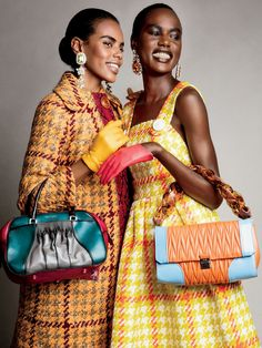 Ajak Deng, Grace Mahary by Patrick Demarchelier for Glamour US September 2015