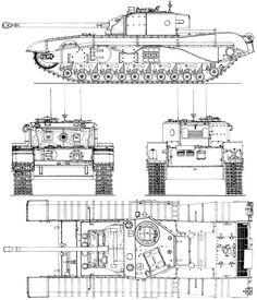 Black Prince tank blueprint