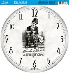 Litoarte Decoupage Vintage, Decoupage Paper, Shabby Vintage, Vintage Walls, Paper Clock, Clock Art, Diy Clock, Vintage Images, Vintage Posters