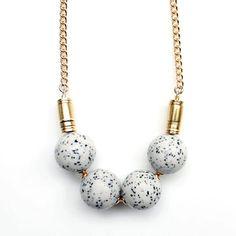 Jasper Metal Necklace