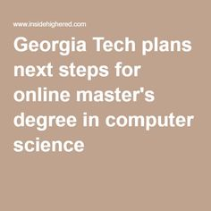 How to get a master's degree in computer science?