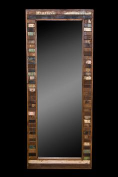 Large Mirror Reclaimed Wood Frame