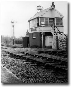 Wellow signal box. Heritage Railway, Steam Railway, Junction Boxes, Water Tower, Steam Engine, North Yorkshire, Somerset, Great Britain, Bridges