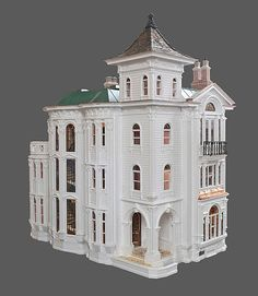 Victorian Dollhouses large size, wonderful design and detail.  Rick Maccione-Dollhouse Builder www.dollhousemansions.com